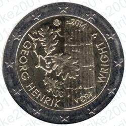 Finlandia - 2€ Comm. 2016 FDC Georg Henrik Von Wright