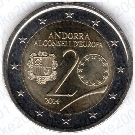 Andorra - 2€ Comm. 2014 Consiglio Europa FDC