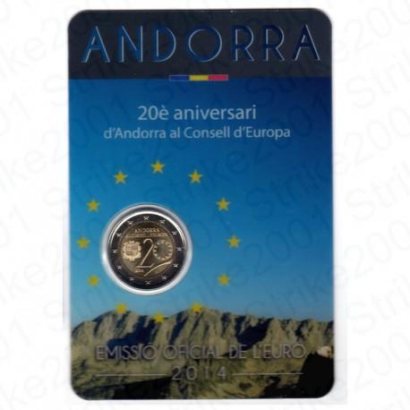 Andorra - 2€ Comm. 2014 Folder Consiglio Europa FDC