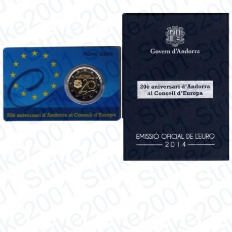 Andorra - 2€ Comm. 2014 Folder Consiglio Europa FS
