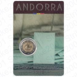 Andorra - 2€ Comm. 2015 FDC Maggiore Età e Diritti in Folder