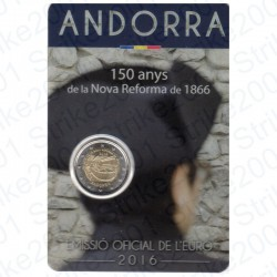 Andorra - 2€ Comm. 2016 FDC Nuova Riforma in Folder