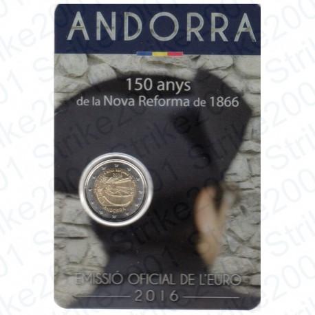 Andorra - 2€ Comm. 2016 Folder NUOVA RIFORMA FDC