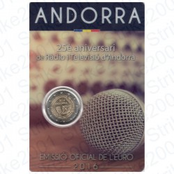 Andorra - 2€ Comm. 2016 FDC Radiotelevisione in Folder