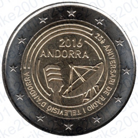 Andorra - 2€ Comm. 2016 Radiotelevisione FDC