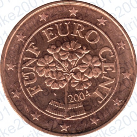 Austria 2004 - 5 Cent. FDC