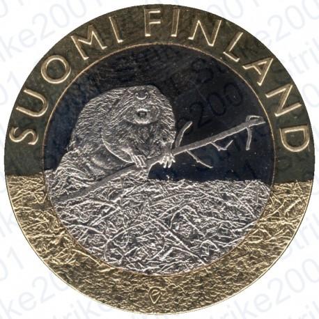 Finlandia - 5€ 2015 FDC Satakunta - Castoro