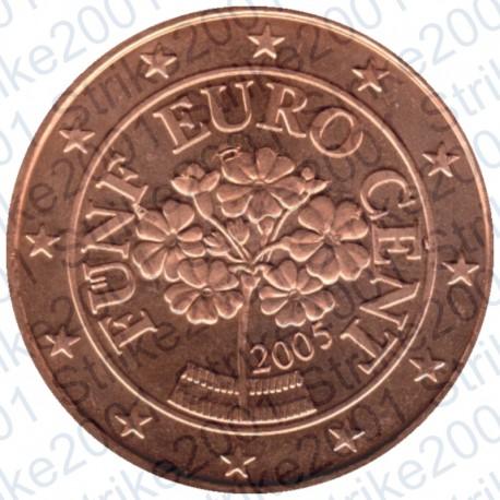 Austria 2005 - 5 Cent. FDC