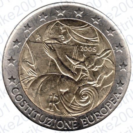 Italia - 2€ Comm. 2005 Costituzione Europea FDC
