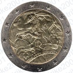 Italia - 2€ Comm. 2008  FDC Diritti dell'Uomo