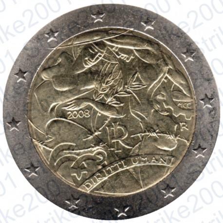 Italia - 2€ Comm. 2008 Diritti dell'Uomo FDC