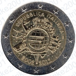 Italia - 2€ Comm. 2012 FDC 10° Anniversario Euro