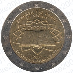 Grecia - 2€ Comm. 2007 FDC Trattato Roma