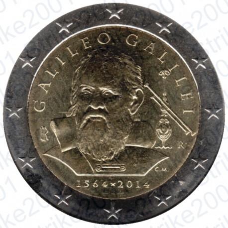 Italia - 2€ Comm. 2014 Galileo Galilei FDC
