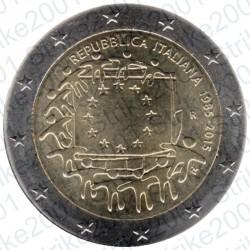 Italia - 2€ Comm. 2015 FDC Bandiera Europea