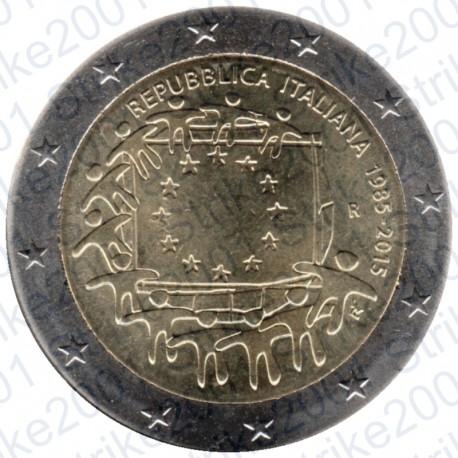 Italia - 2€ Comm. 2015 Bandiera Europea FDC