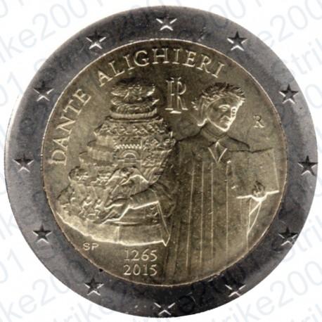 Italia - 2€ Comm. 2015 Dante Alighieri FDC