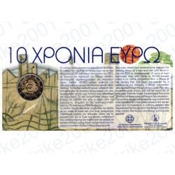 Grecia - 2€ Comm. 2012 FDC 10° Anniversario Euro in Folder