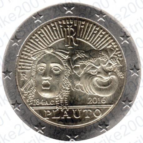 Italia - 2€ Comm. 2016 Plauto FDC