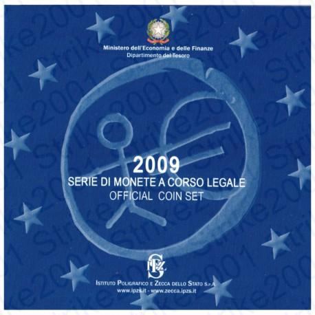 Italia - Divisionale Ufficiale 2009 FDC 9 Valori