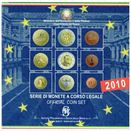 Italia - Divisionale Ufficiale 2010 FDC 9 Valori