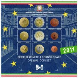 Italia - Divisionale Ufficiale 2011 FDC 9 Valori