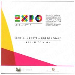 Italia - Divisionale Ufficiale 2015 FDC 9 Valori
