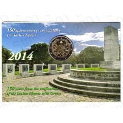 Grecia - 2€ Comm. 2014 FDC Isole Ionie in Folder