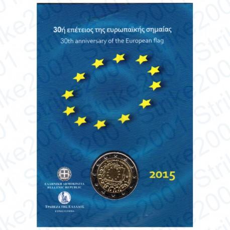 Grecia - 2€ Comm. 2015 30° Ann. Bandiera Europea FOLDER