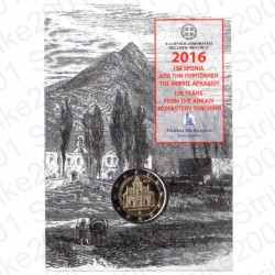 Grecia - 2€ Comm. 2016 FDC Arkadi in Folder
