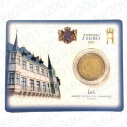 Lussemburgo - 2€ Comm. 2006 FDC Granduchi Henry e Guillaume in Folder