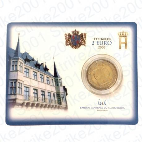 Lussemburgo - 2€ Comm. 2006 in folder FDC Granduchi Henry e Guillaume