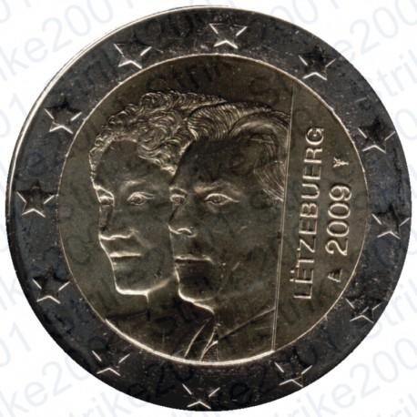 Lussemburgo - 2€ Comm. 2009 Principi Henri e Charlotte FDC