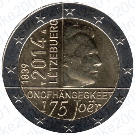 Lussemburgo - 2€ Comm. 2014 Indipendenza FDC