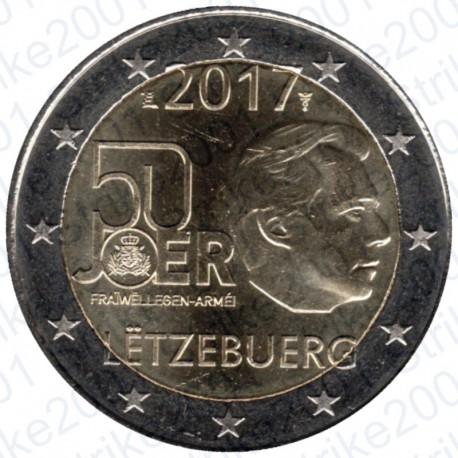 Lussemburgo - 2€ Comm. 2017 Servizio Militare Volontario FDC