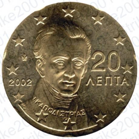 Grecia 2002 - 20 Cent. Zecca Estera FDC