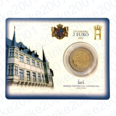 Lussemburgo - 2€ Comm. 2012 in folder FDC Granduchi di Lussemburgo