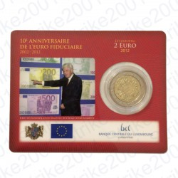 Lussemburgo - 2€ Comm. 2012 FDC Anniversario in Folder