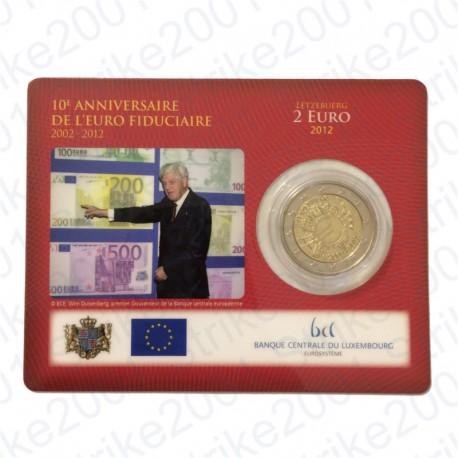 Lussemburgo - 2€ Comm. 2012 in folder FDC Anniversario