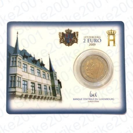 Lussemburgo - 2€ Comm. 2009 in folder FDC Principi Henri e Charlotte