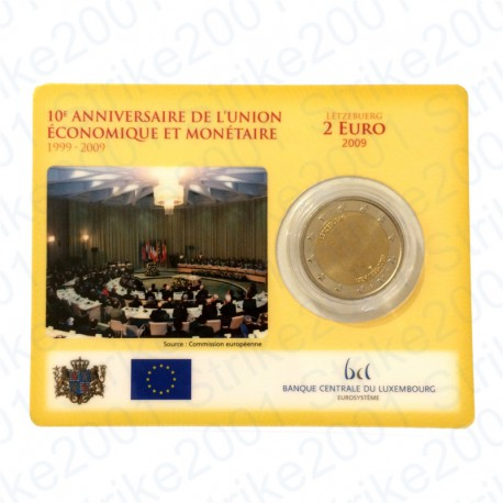 Lussemburgo - 2€ Comm. 2009 in folder FDC EMU