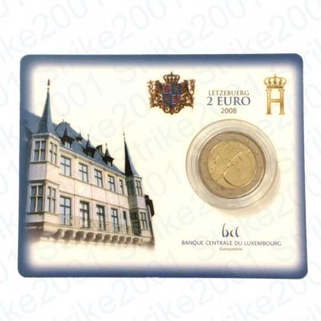 Lussemburgo - 2€ Comm. 2008 in folder FDC Castello di Berg