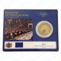 Lussemburgo - 2€ Comm. 2007 FDC Trattato Roma in Folder
