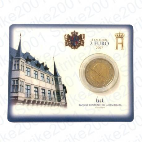 Lussemburgo - 2€ Comm. 2007 in folder FDC Palazzo del Granduca