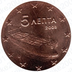 Grecia 2008 - 5 Cent. FDC