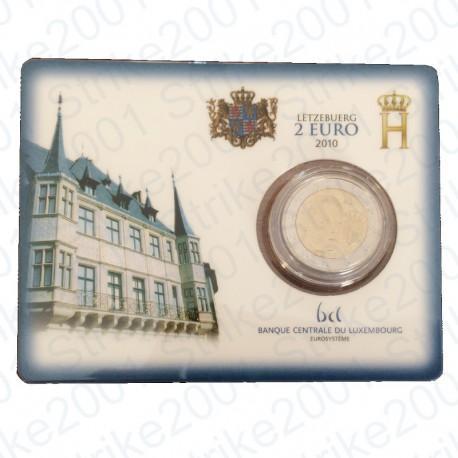 Lussemburgo - 2€ Comm. 2010 in folder FDC Stemma Granducato
