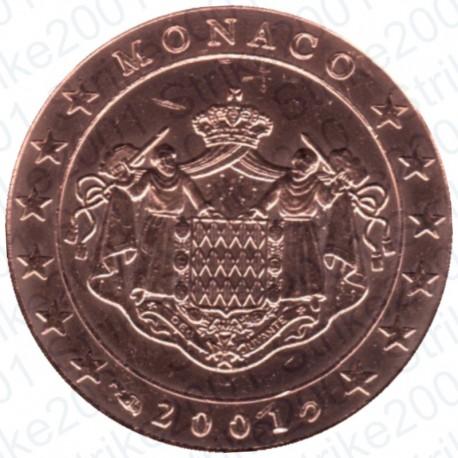 Monaco 2001 - 2 Cent. FDC