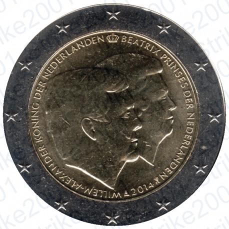 Olanda - 2€ Comm. 2014 FDC Guglielmo e Beatrice