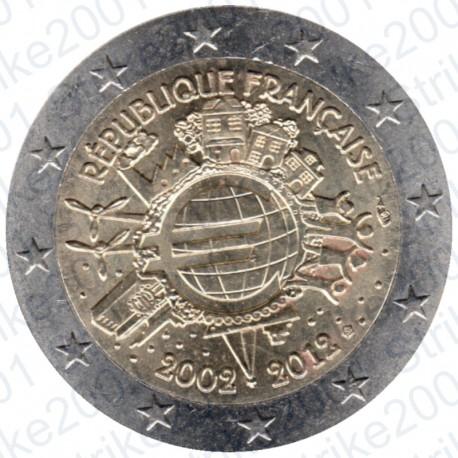 Francia - 2€ Comm. 2012 FDC 10° Anniversario Euro