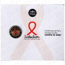 Francia - 2€ Comm. 2014 FDC Aids in Folder